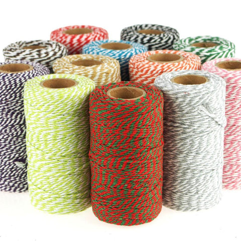 Cotton Bakers Twine Ribbon, 10 Ply, 100 Yards