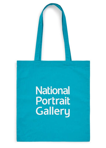 Aqua National Portrait Gallery Logo Tote Bag