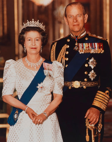Queen Elizabeth II; Prince Philip, Duke of Edinburgh NPG P1539 Portrait Print