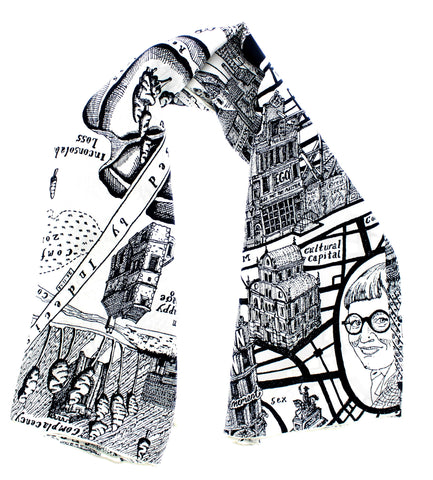 Grayson Perry 'Map of Days' Scarf