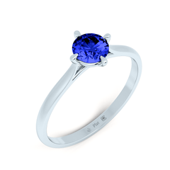Platinum Contemporary Love Note Solitaire with  Blue Sapphire - Fairtrade Jewellery Co. - 1
