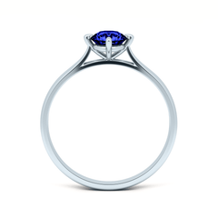 Platinum Contemporary Love Note Solitaire with  Blue Sapphire - Fairtrade Jewellery Co. - 3
