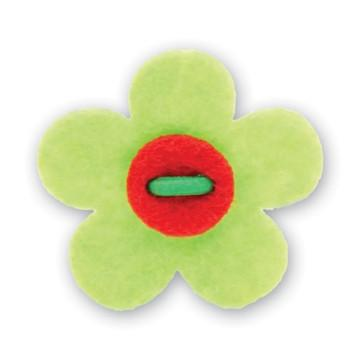 Flower Lapel Pin - Avalon Green with Portsalon Red - Stolen Riches