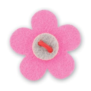 Flower Lapel Pin - Poona Pink with Isolar Silver - Stolen Riches