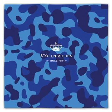 "Camo Blue - Pocket Square (13""x13"") - Stolen Riches"