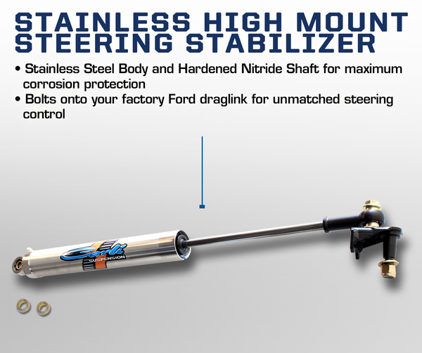 Carli Ford High Mount Steering Stabilizer 08-16