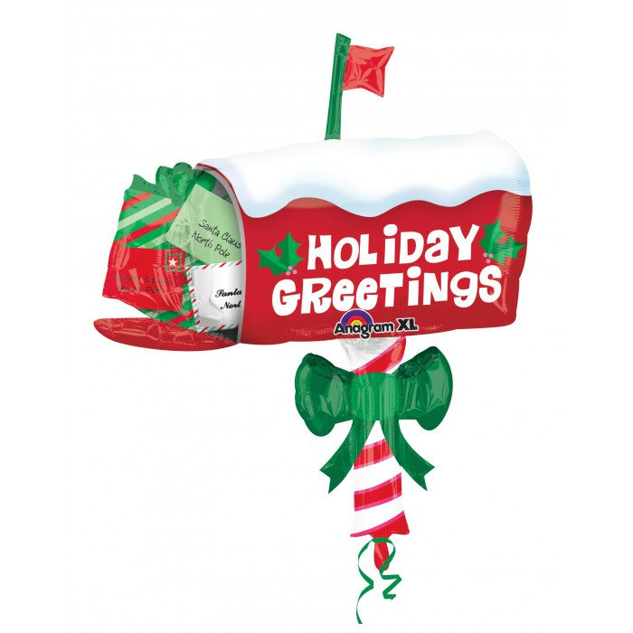 SuperShape Holiday Greetings Mailbox - 32""