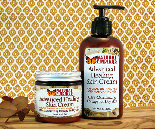 Natural Findings Advanced Healing Skin Cream - 4oz and 8oz Pump Bottle