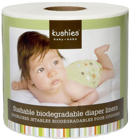 Kushies Flushable Biodegradable Diaper Liners