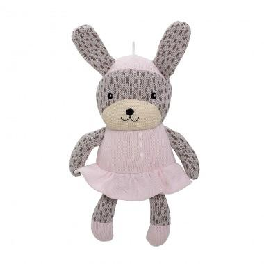 Bloomingville Mini Knitted Cotton Bunny - Pink