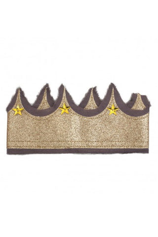 Glitter Crown - Plum/Gold