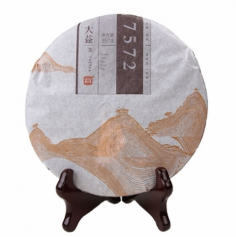 2014 Menghai 7572 Recipe Ripe Pu-erh Tea Cake - Yunnan Sourcing Tea Shop