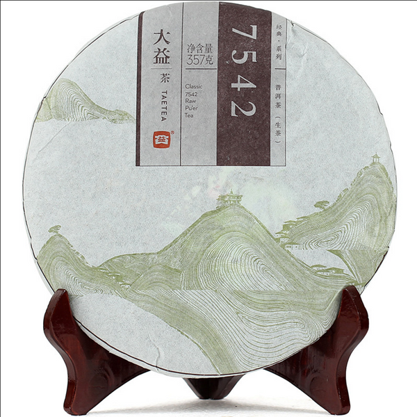 2015 Menghai Tea Factory 7542 Recipe Raw Pu-erh Tea Cake - Yunnan Sourcing Tea Shop