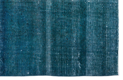 Turquoise  Over Dyed Vintage XLarge Rug 9'2'' x 14'4'' ft 280 x 437 cm