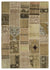 Anatolia Over Dyed Patchwork Unique Rug 5'3'' x 7'7'' ft 160 x 230 cm