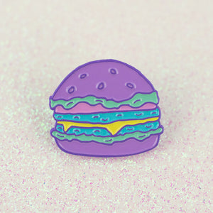 Hamburger Enamel Pin - Femfetti