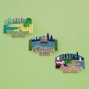 Travel Trio Enamel Pins
