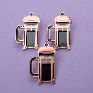 French Press Enamel Pin - Femfetti