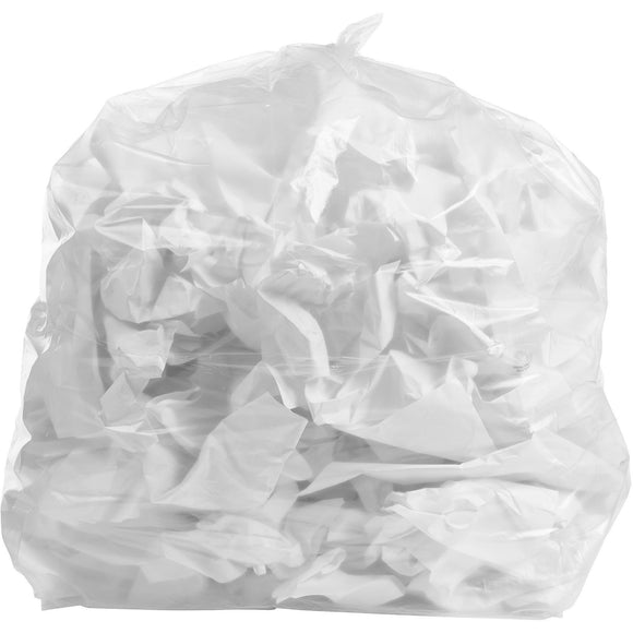 55 Gallon Garbage Bags, Rubbermade Compatible: Clear, 1.2 Mil, 40x50, 100 Bags.