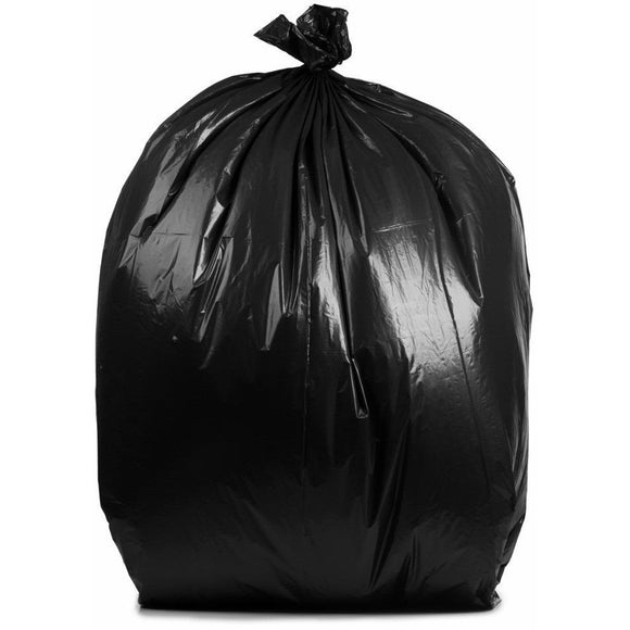 55 Gallon Garbage Bags, Rubbermade Compatible: Black, 1.5 Mil, 40x50, 100 Bags.