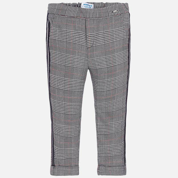 AW19 Mayoral Girls Dogtooth Check Trousers 4504