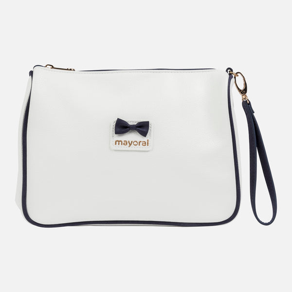 Mayoral White & Navy Blue Toiletry Bag 19690