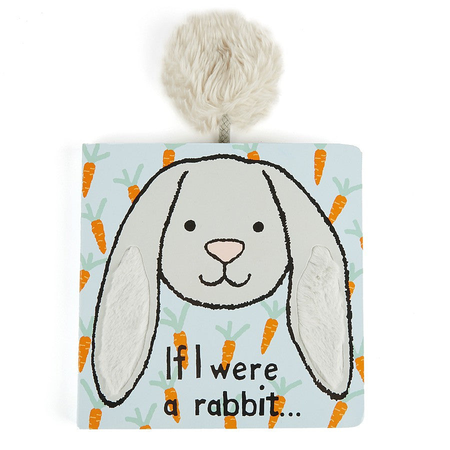 Jellycat 'If I Were A Rabbit Board Book' Silver - Liquorice Kids