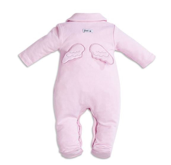 First Pink Angel Wings Babygrow - Liquorice Kids