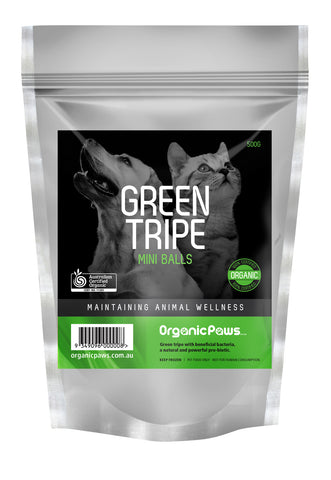 Green Tripe Mini Balls 500g