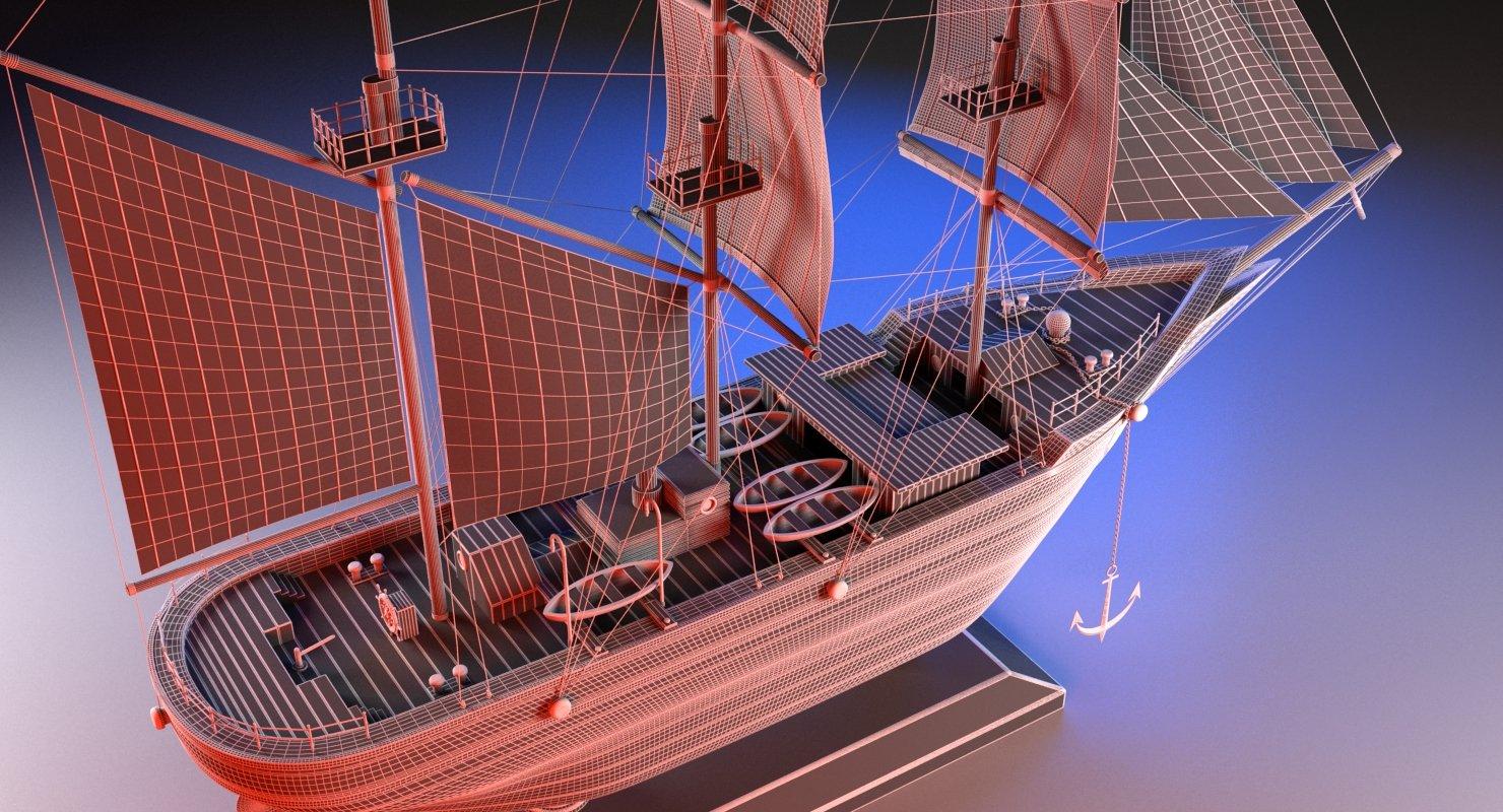 Sail Boat Miniature - WireCASE