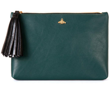 Tommy Forest Green Nappa Leather Pouch