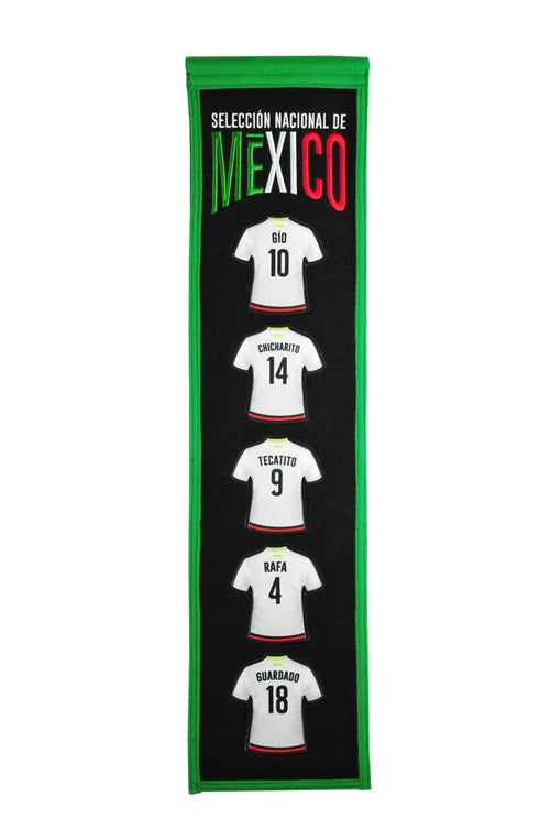 Mexico Players Soccer Heritage Banner