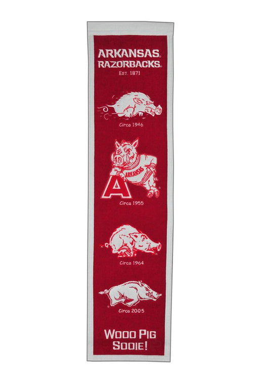 Arkansas Razorbacks NCAA Heritage Banner