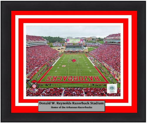 "Arkansas Razorbacks Donald W. Reynolds Razorback Stadium NCAA College Football 8"" x 10"" Framed and Matted Photo"