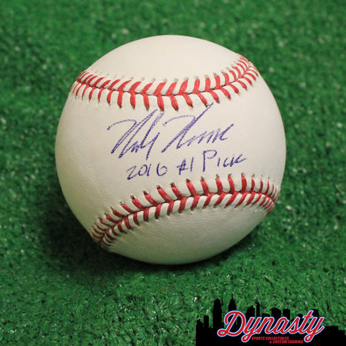 Philadelphia Phillies Mickey Moniak Autographed Major League Baseball with '2016 #1 Pick' Inscription (White)