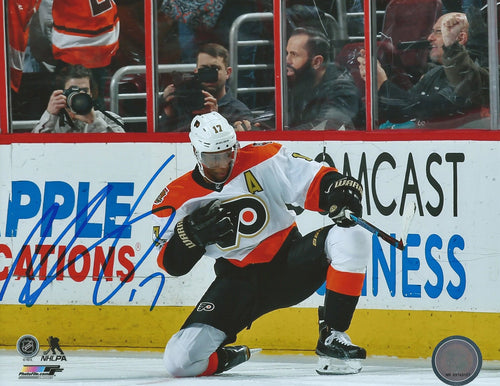 Philadelphia Flyers Wayne Simmonds Fist Pump Autographed NHL Hockey Photo
