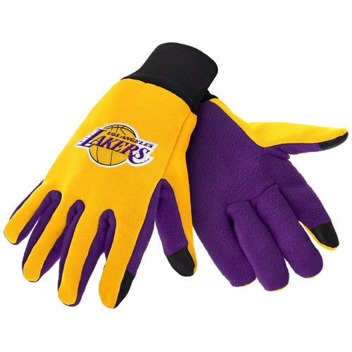Los Angeles Lakers NBA Basketball Texting Gloves