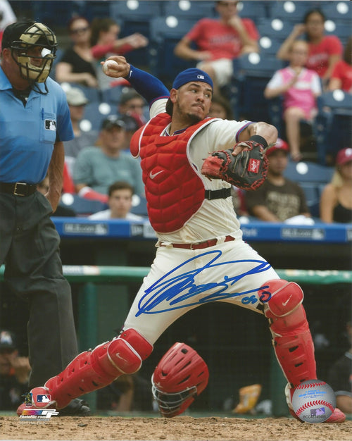 Jorge Alfaro Philadelphia Phillies Throw Autographed MLB Baseball Photo Inscribed 'Oso'