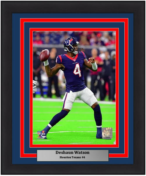 "Houston Texans Deshaun Watson NFL Football 8"" x 10"" Framed and Matted Photo"
