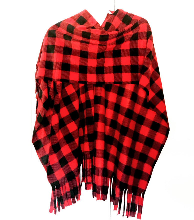 Red Buffalo Check Ladies Wrap