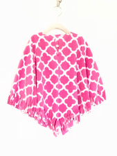 Hot Pink Quatrefoil Baby Poncho