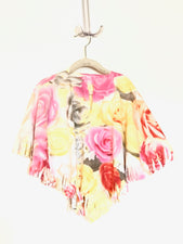 Pink Floral Little Kid Poncho