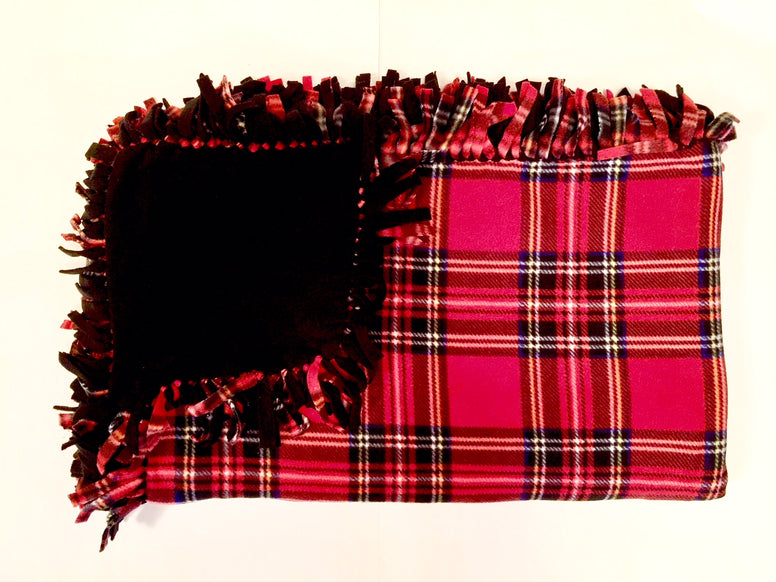 Red Tartan Plaid Large Blanket