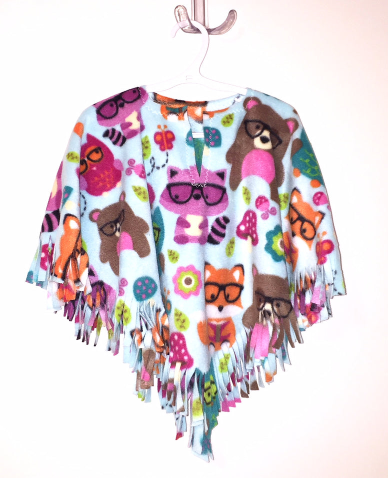 Forest Friends Baby Poncho