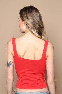 Free People Square One Cami - Red