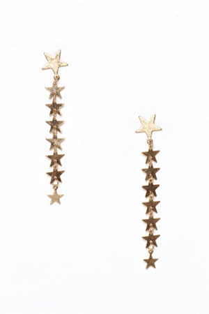 Long Star Dangle Earrings