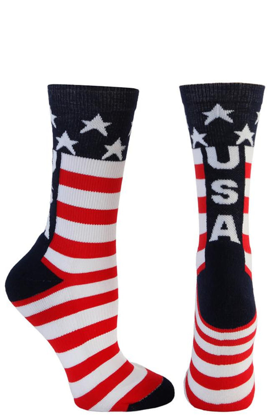 USA Red/White/Blue Crew Socks- The Sox Box