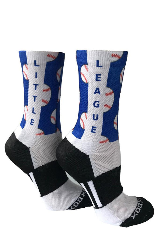 Novelty Custom Blue Baseball Socks - The Sox Box
