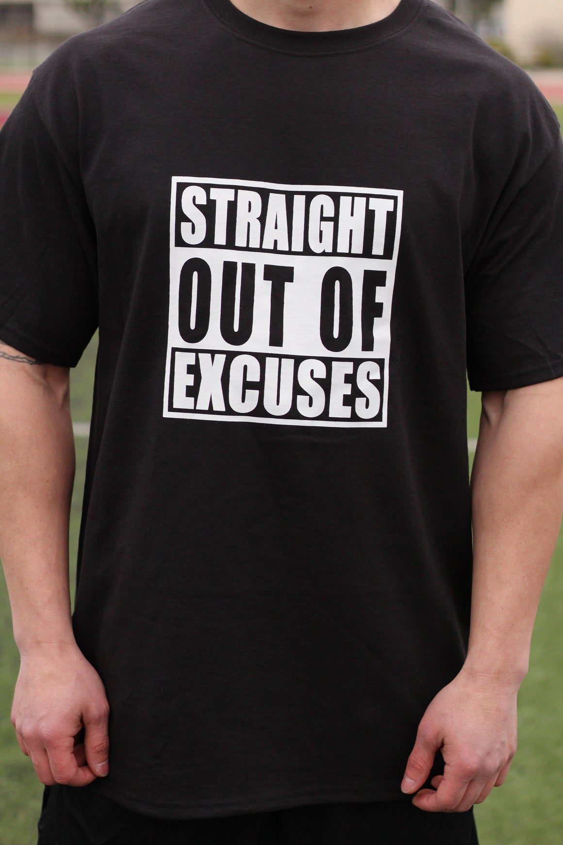 Straight Outta Excuses Men's Workout Shirt - The Sox Box