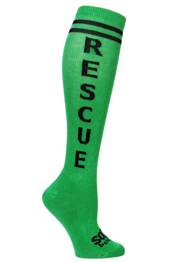 Rescue Green Athletic Knee High Socks- The Sox Box